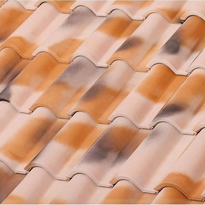 Металлочерепица Монтеррей, 0.5 мм, PE 25 микрон, цвет: Серый, RAL 7004.