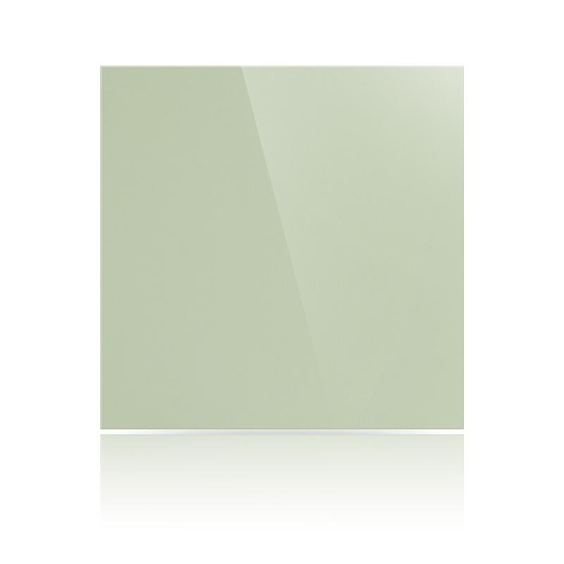 Керамогранит плитка 600х600х10 мм, Полированный, Моноколор, Цвет: Фисташковый
