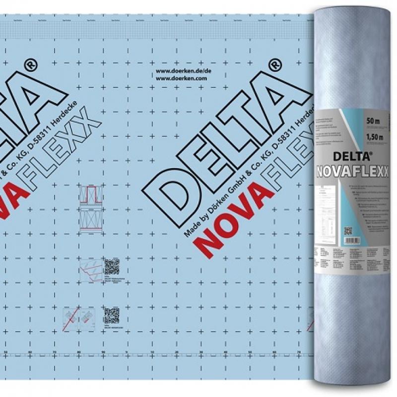 DELTA-NOVAFLEXX Адаптивная плёнка с переменной паропроницаемостью для ремонта с внешней стороны.