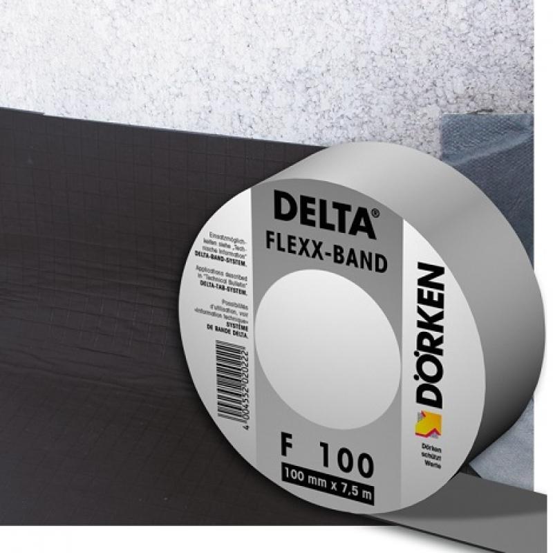 DELTA-FLEXX-BAND F 100 - Соединительная лента для примыкания гидро- и пароизоляционных плёнок.