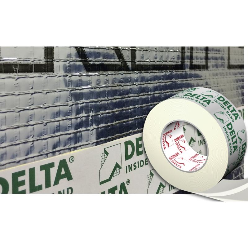 DELTA-INSIDE-BAND Односторонняя соединительная лента для проклейки нахлёстов пароизоляционных плёнок 60 мм.