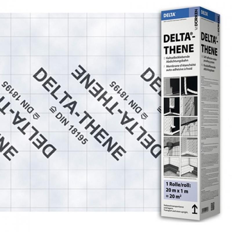 DELTA-THENE ALU 0,4 Самоклеящаяся армированная пароизоляция с алюминиевым слоем.
